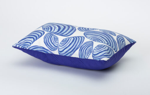 Festive Fish - Artful Pillow - Clams on White