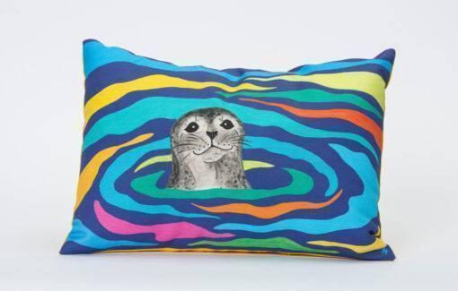 Festive Fish - Artful Pillow - Harbor Seal
