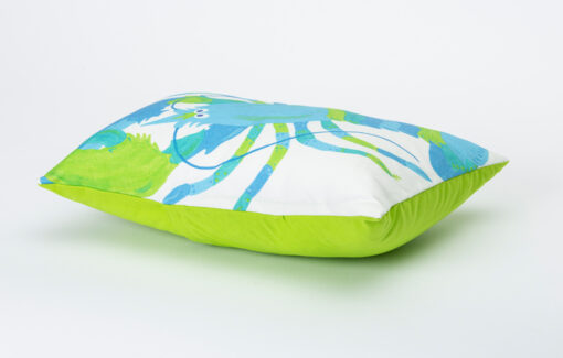 Festive Fish - Artful Pillow - Ice Blue Lobster