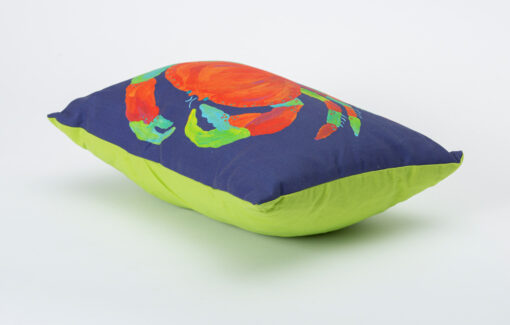 Festive Fish - Artful Pillow - Lefty Crab