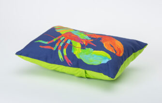 Festive Fish - Artful Pillow - Lefty Lobster