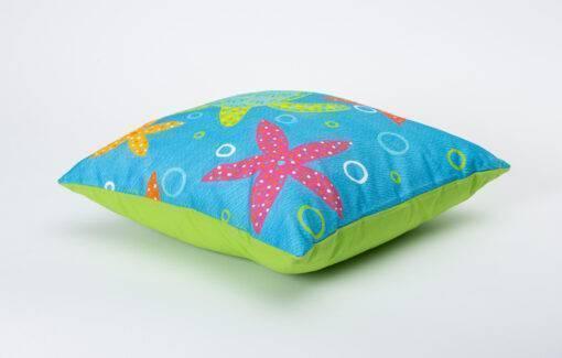 Festive Fish - Artful Pillow - Lil Turtle