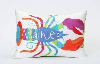 Festive Fish - Artful Pillow - Lifesavor Lobster