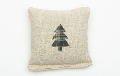 Perry Home Naturals - Fir Sachet - Olive and Teal Plaid Tree