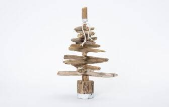 Salty Girl Mini Driftwood Christmas Tree Kit - White