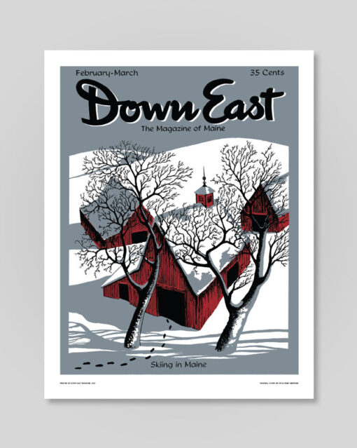Down East Poster, Feb-Mar Skiing in Maine
