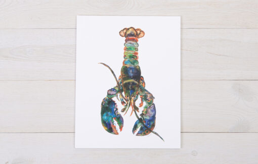 Maine lobster watercolor print