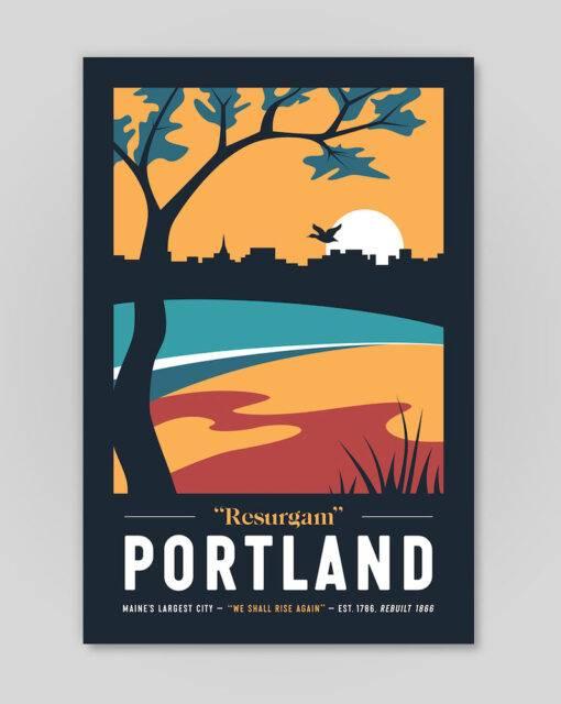 Portland dark poster