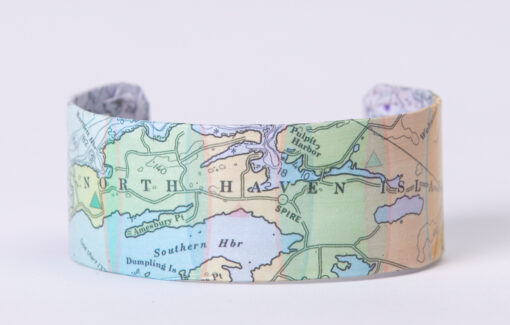 Whimsy - Chart Map Cuff - North Haven