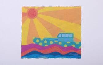 Festive Fish - Microfiber Cloth - Buoy Burst / Lobster Boat