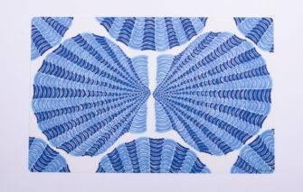 Festive Fish - Placemat - Blue Scallops