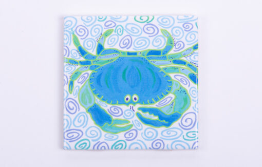 Festive Fish - Tile Coaster - Blue Crab