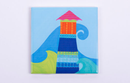 Festive Fish - Tile Coaster - Island Light