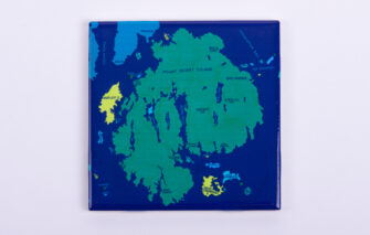 Festive Fish - Tile Coaster - Mount Desert Island Chart