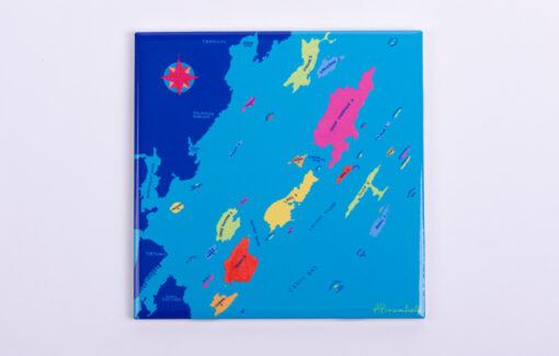 Festive Fish - Trivet - Casco Bay Chart
