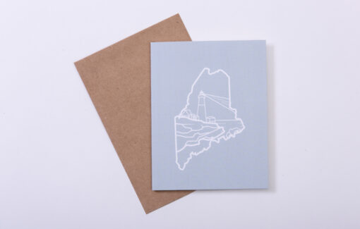 ReclaiMEd Sign Co. - Greeting Card - Maine Lighthouse