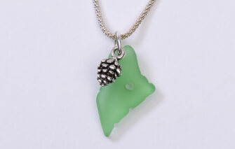 Spruce Moose Designs - Necklace - Celebrate Maine - Green