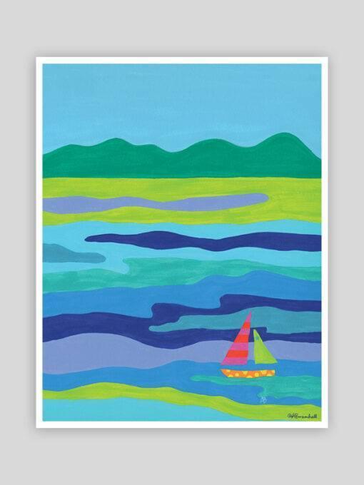 Festive Fish - Blue Chip Whimsical Print