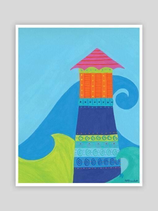 Festive Fish - Island Light Whimsical Print