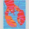Festive Fish - Seaweed Lobster Whimsical Print