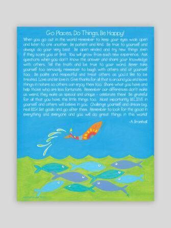 Festive Fish - Joyful Fish Go Do Be Print