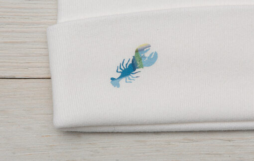 Diva Designs - Blue Plaid Lobster Baby Set