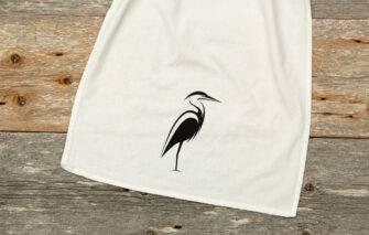 Down East - Tea Towel - Heron