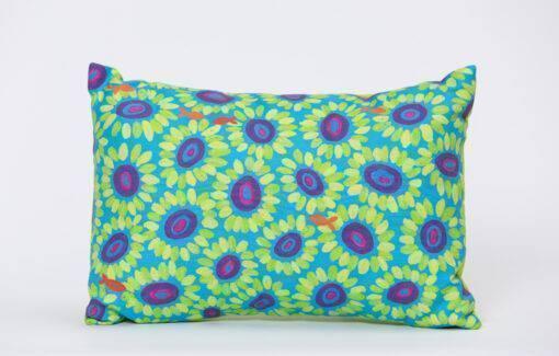 Festive Fish - Artfull Pillow - Coral Bloom