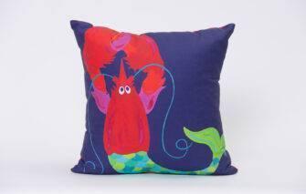 Festive Fish - Artfull Pillow - Mermaid Lobster