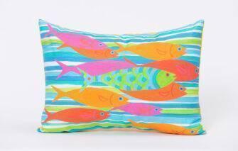Festive Fish - Artfull Pillow - School-O-Fish