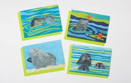 Festive Fish Seal Assorted Card Set
