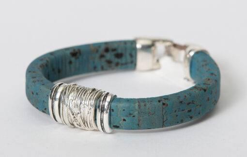 Gem Lounge - Blue Cork Bead Bracelet