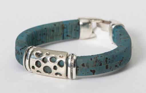 Gem Lounge - Blue Cork Holed Bead Bracelet