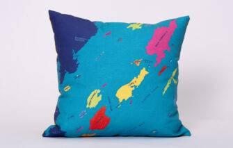 Festive Fish - Artful Square Pillow - Casco Bay