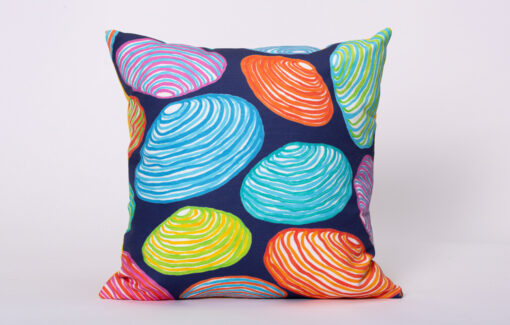 Festive Fish - Artful Square Pillow - Colorful Scallops