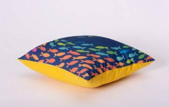 Festive Fish - Artful Square Pillow - Swish Fish