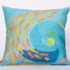 Festive Fish - Artful Square Pillow - Shell Fish
