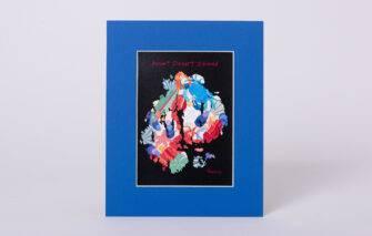 Festive Fish - Mount Desert Island Collage Matted Print