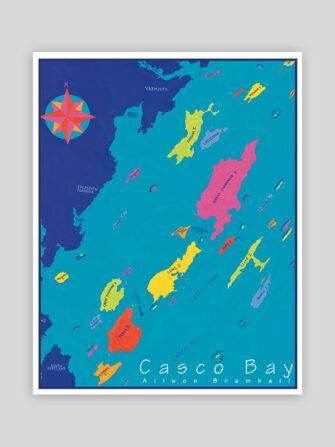 Festive Fish - Casco Bay Chart Print