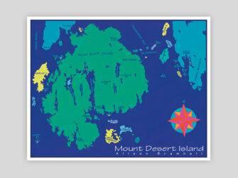 Festive Fish - Mount Desert Island Chart Print