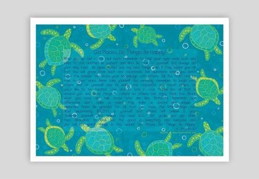 Festive Fish - Turtles Go Do Be Print