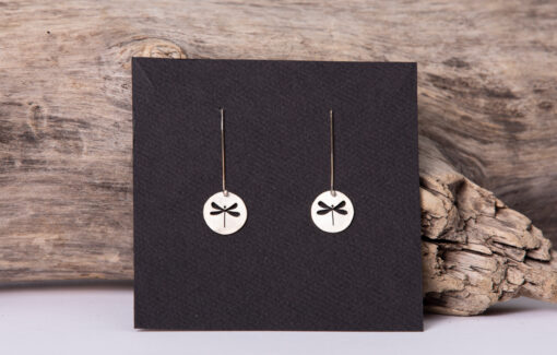 LSF Design and Fabrication - Sterling Dragonfly Earrings