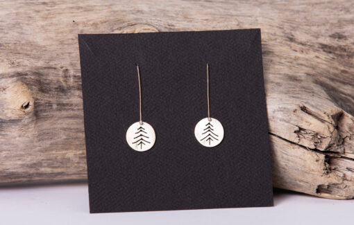 LSF Design and Fabrication - Sterling Pine Tree Earrings