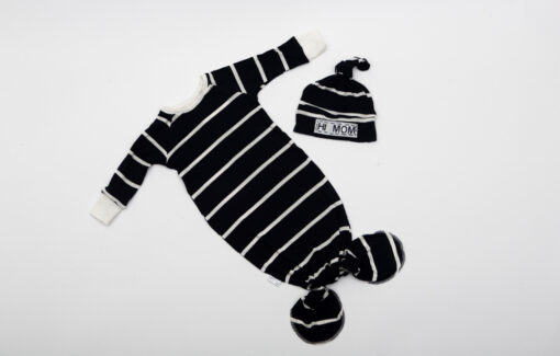 NAPTIME Knots - HI Mom Striped Knotted Gown Set