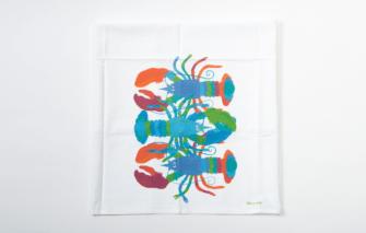 Festive Fish - Flour Sack Towel - Summer Lobsters