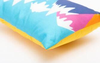 Festive Fish - Artful Pillow - Happy Mountains